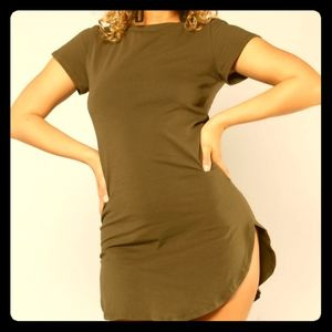 NWT Fashion Nova Tori Tunic Top- Olive